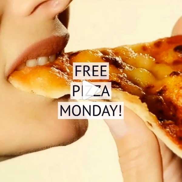 Instagram Free Pizza Monday